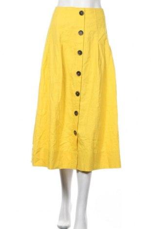 Φούστα Christian Berg, Μέγεθος M, Χρώμα Κίτρινο, 55% λινό, 45% βαμβάκι, Τιμή 26,68€
