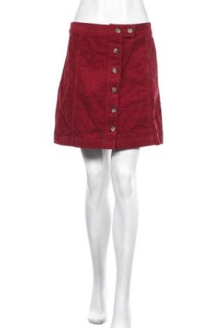 Пола Forever 21, Размер XL, Цвят Червен, 99% памук, 1% еластан, Цена 15,17лв.