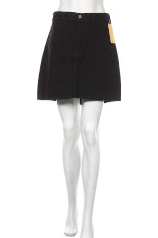 Пола H&M, Размер L, Цвят Черен, 72% памук, 28% полиестер, Цена 35,25лв.