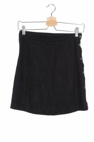 Пола H&M, Размер XS, Цвят Черен, 90% полиестер, 10% еластан, Цена 6,26лв.
