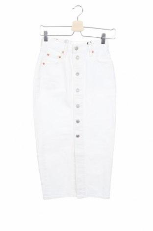 Пола Levi's, Размер XS, Цвят Бял, 100% памук, Цена 55,60лв.