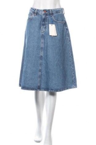 Пола Pepe Jeans, Размер L, Цвят Син, 62% полиестер, 38% памук, Цена 108,77лв.