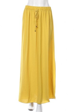 Пола Zara, Размер S, Цвят Жълт, Полиестер, Цена 29,40лв.