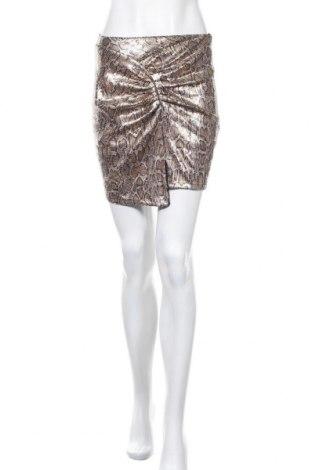 Пола Zara, Размер XS, Цвят Златист, 95% полиестер, 5% еластан, Цена 8,33лв.