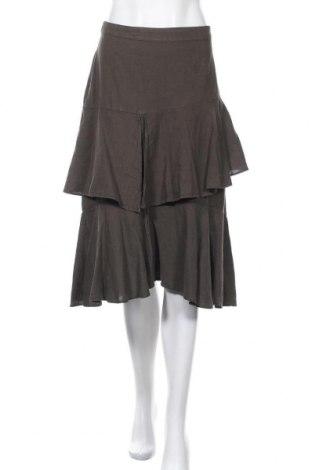 Пола Zara, Размер M, Цвят Зелен, 60% лен, 40% памук, Цена 6,23лв.