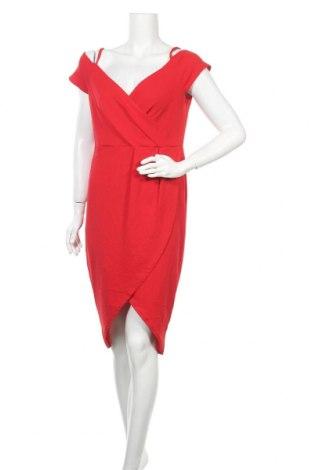 Рокля Boohoo, Размер XL, Цвят Червен, 95% полиестер, 5% еластан, Цена 46,20лв.