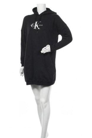Рокля Calvin Klein Jeans, Размер S, Цвят Черен, Памук, Цена 116,07лв.