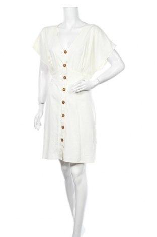 Рокля Cotton On, Размер XL, Цвят Бял, 66% вискоза, 22% лен, 12% памук, Цена 30,45лв.