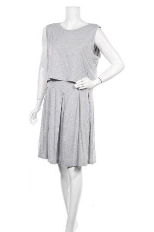 Рокля Gap, Размер XL, Цвят Сив, 55% памук, 45% модал, Цена 23,63лв.