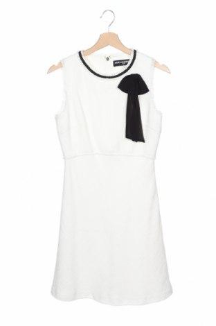 Рокля Karl Lagerfeld, Размер XS, Цвят Бял, 79% памук, 21% полиестер, Цена 99,40лв.