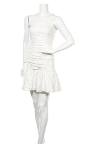 Рокля Nicole Miller, Размер S, Цвят Бял, 77% памук, 11% полиамид, 9% метални нишки, 3% еластан, Цена 66,05лв.