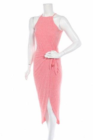 Рокля Vintage Dressing, Размер M, Цвят Розов, Вискоза, Цена 23,94лв.