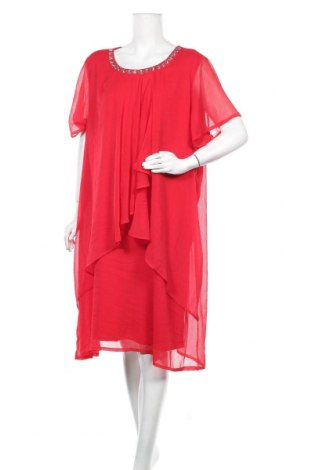 Рокля Zhenzi, Размер XL, Цвят Червен, 100% полиестер, Цена 16,38лв.