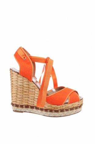 Сандали Dolce & Gabbana, Размер 41, Цвят Оранжев, Текстил, Цена 441,35лв.