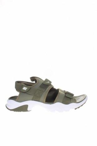 Сандали Nike, Размер 48, Цвят Зелен, Текстил, еко кожа, Цена 104,25лв.
