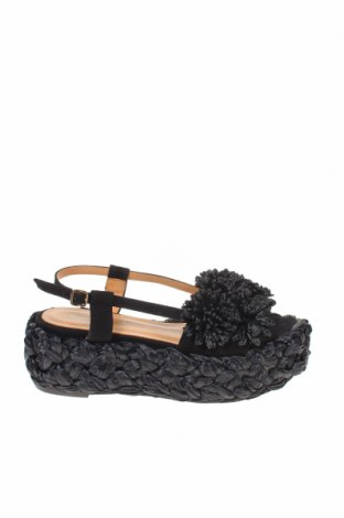 Сандали Paloma Barcelo, Размер 37, Цвят Черен, Естествен велур, други тъкани, Цена 141,75лв.
