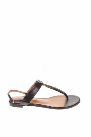 Σανδάλια Pura Lopez, Μέγεθος 37, Χρώμα Μαύρο, Γνήσιο δέρμα, Τιμή 56,45€