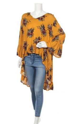 Туника Caroline K Morgan, Размер XL, Цвят Жълт, Вискоза, Цена 22,05лв.