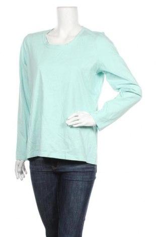Дамска блуза L.L. Bean, Размер L, Цвят Син, Памук, Цена 11,60лв.