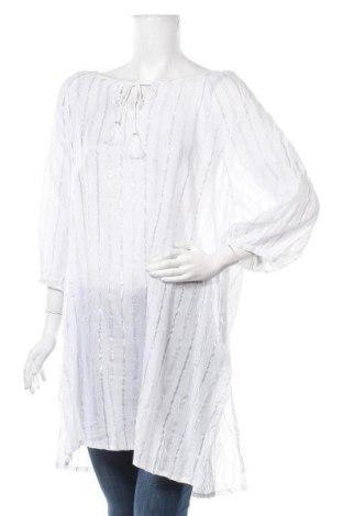 Туника Suzanne Grae, Размер XL, Цвят Бял, 94% памук, 6% метални нишки, Цена 38,90лв.