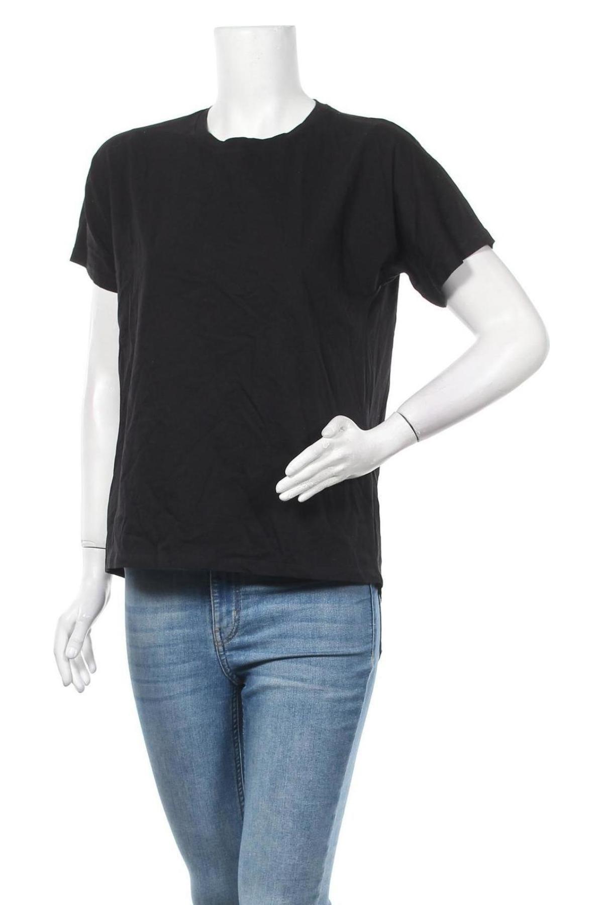 Дамска тениска Massimo Dutti, Размер S, Цвят Черен, Памук, Цена 23,40лв.
