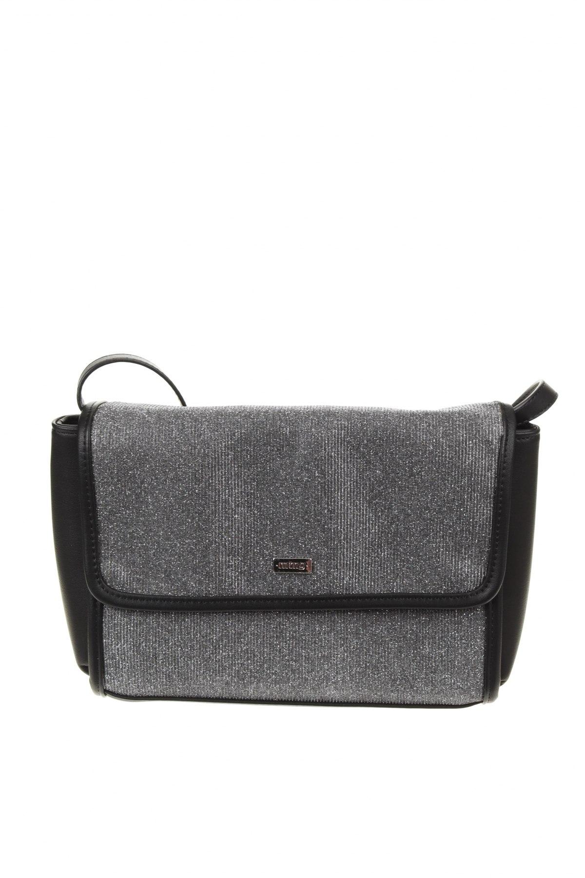 Дамска чанта Mtng, Цвят Сребрист, Текстил, еко кожа, Цена 18,62лв.