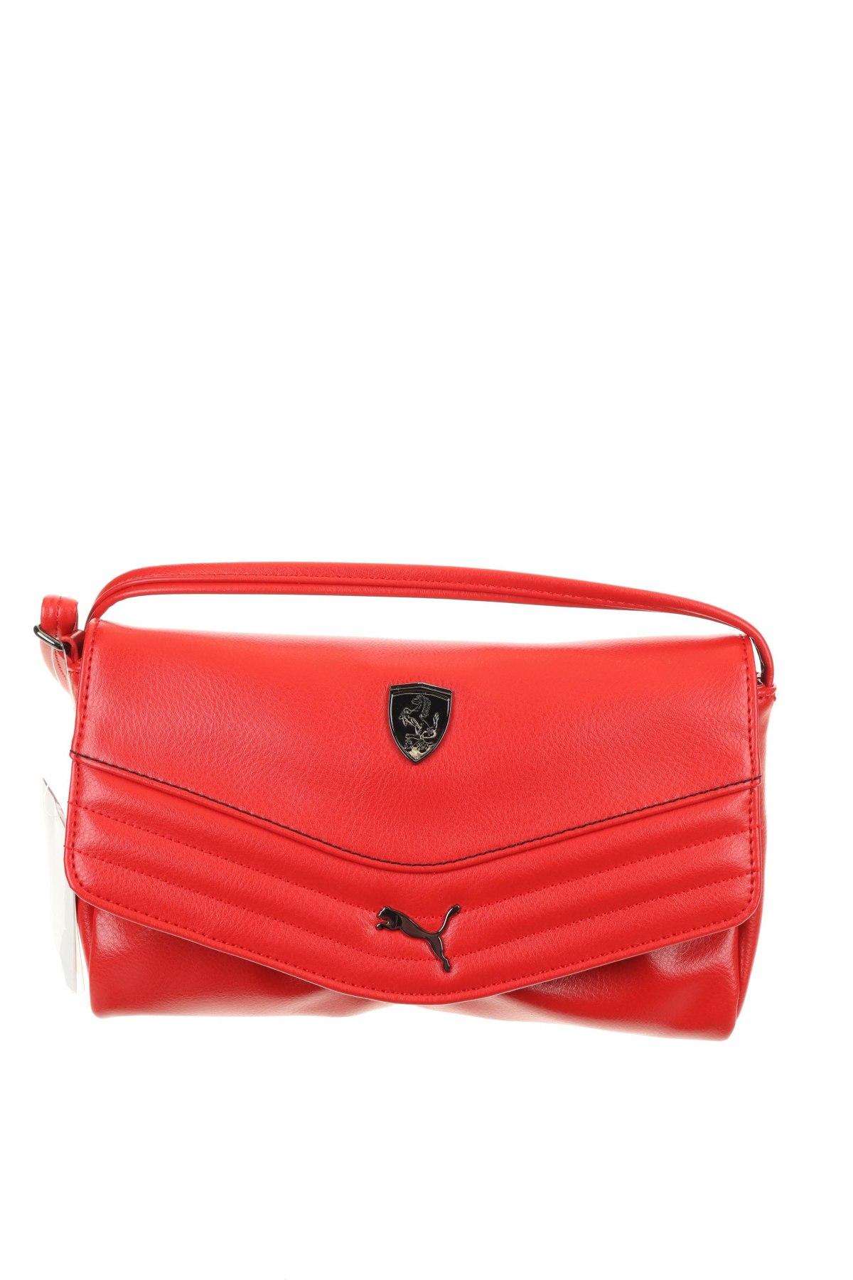 Дамска чанта PUMA, Цвят Червен, Еко кожа, Цена 33,82лв.