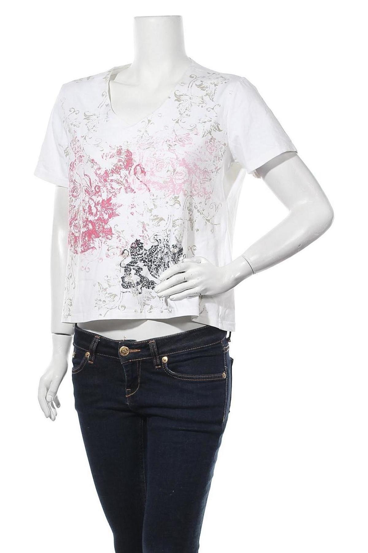 Дамска тениска, Размер XL, Цвят Многоцветен, 95% памук, 5% еластан, Цена 13,23лв.