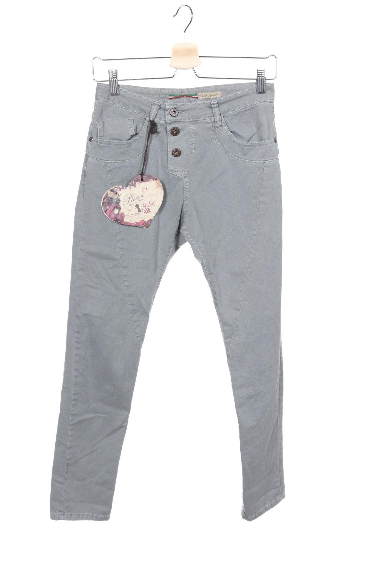 Дамски дънки Please, Размер XXS, Цвят Сив, 98% памук, 2% еластан, Цена 39,75лв.