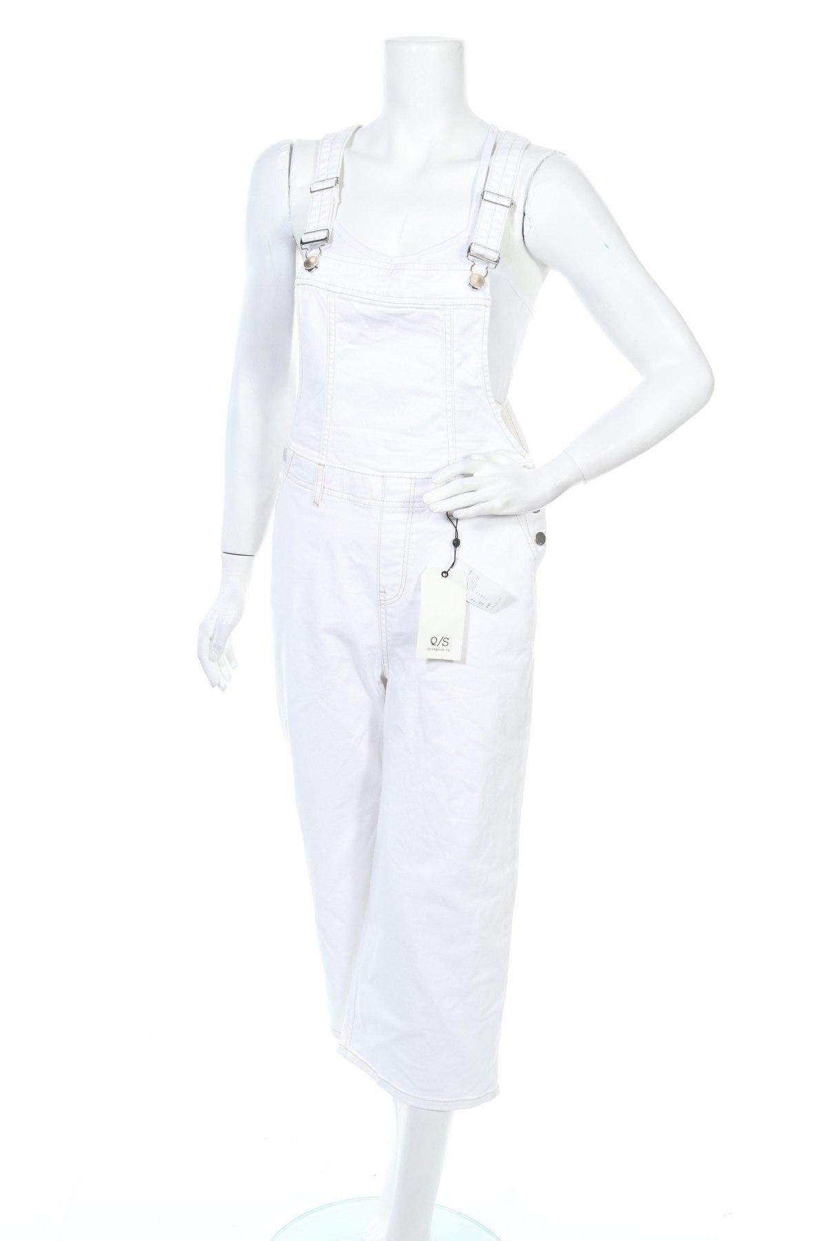 Γυναικεία τζίν σαλοπέτα Q/S by S.Oliver, Μέγεθος S, Χρώμα Λευκό, 97% βαμβάκι, 3% ελαστάνη, Τιμή 42,24€