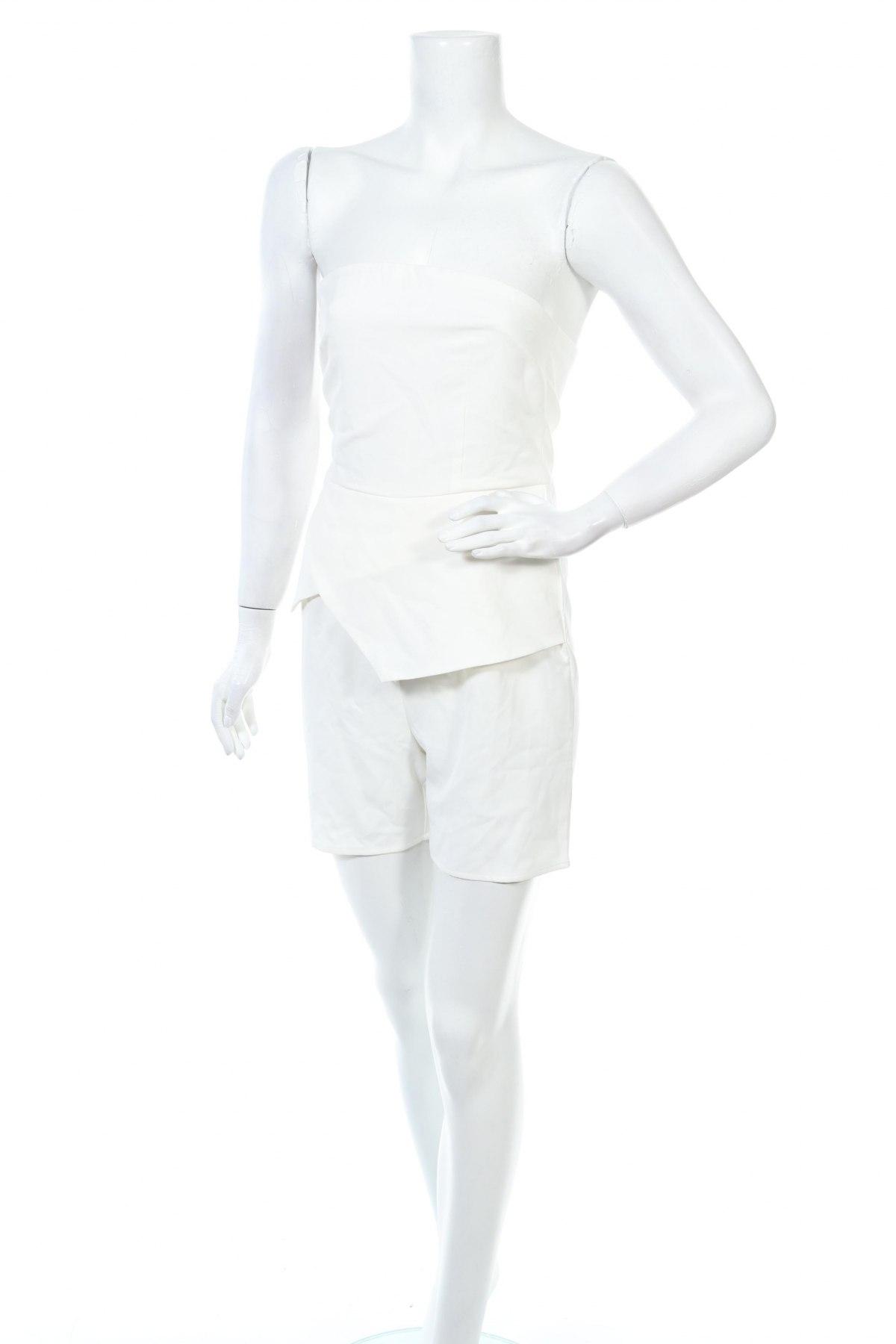 Дамски гащеризон Unique 21, Размер XS, Цвят Бял, 95% полиестер, 5% еластан, Цена 27,60лв.