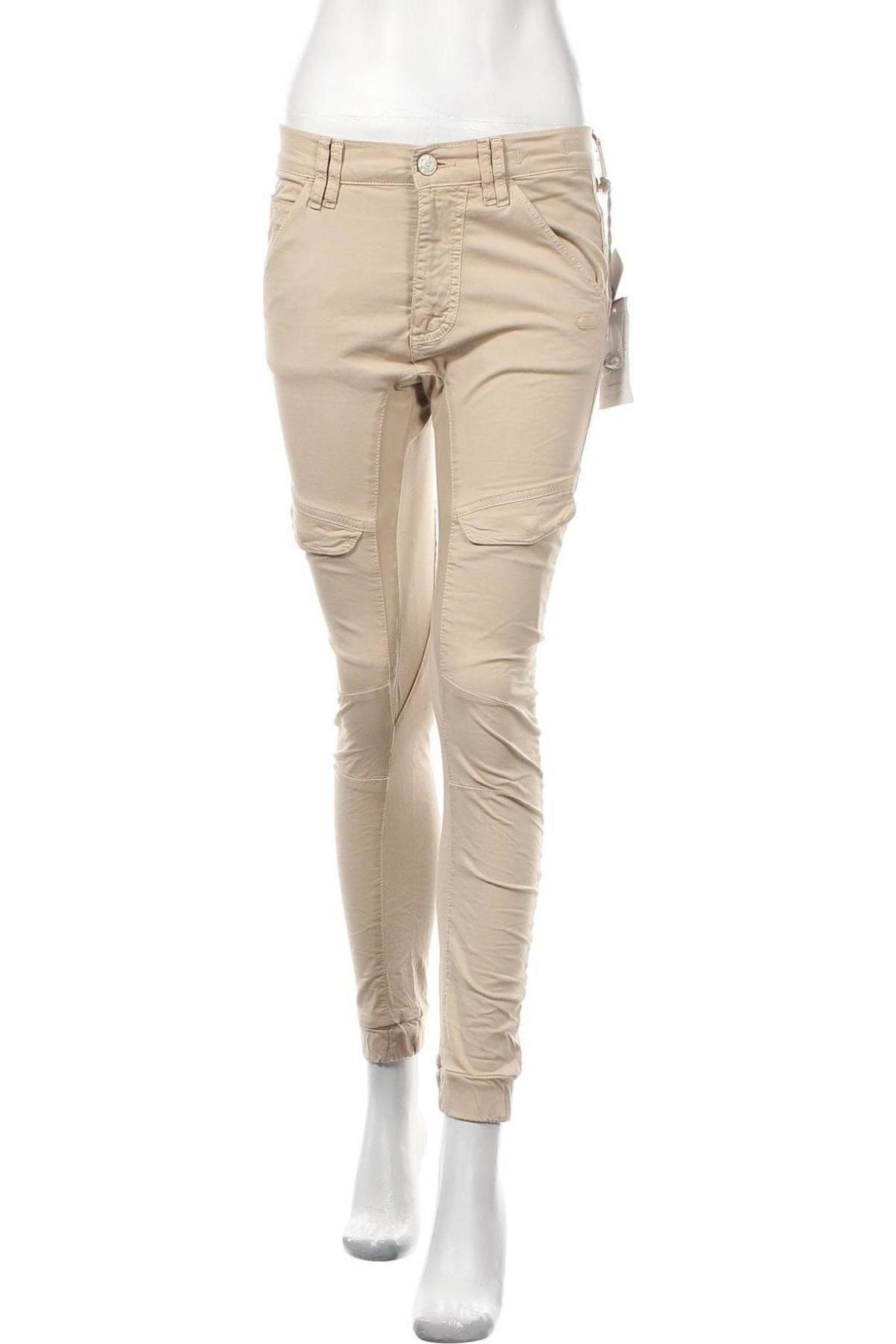 Дамски панталон Gang, Размер S, Цвят Бежов, 97% памук, 3% еластан, Цена 141,75лв.