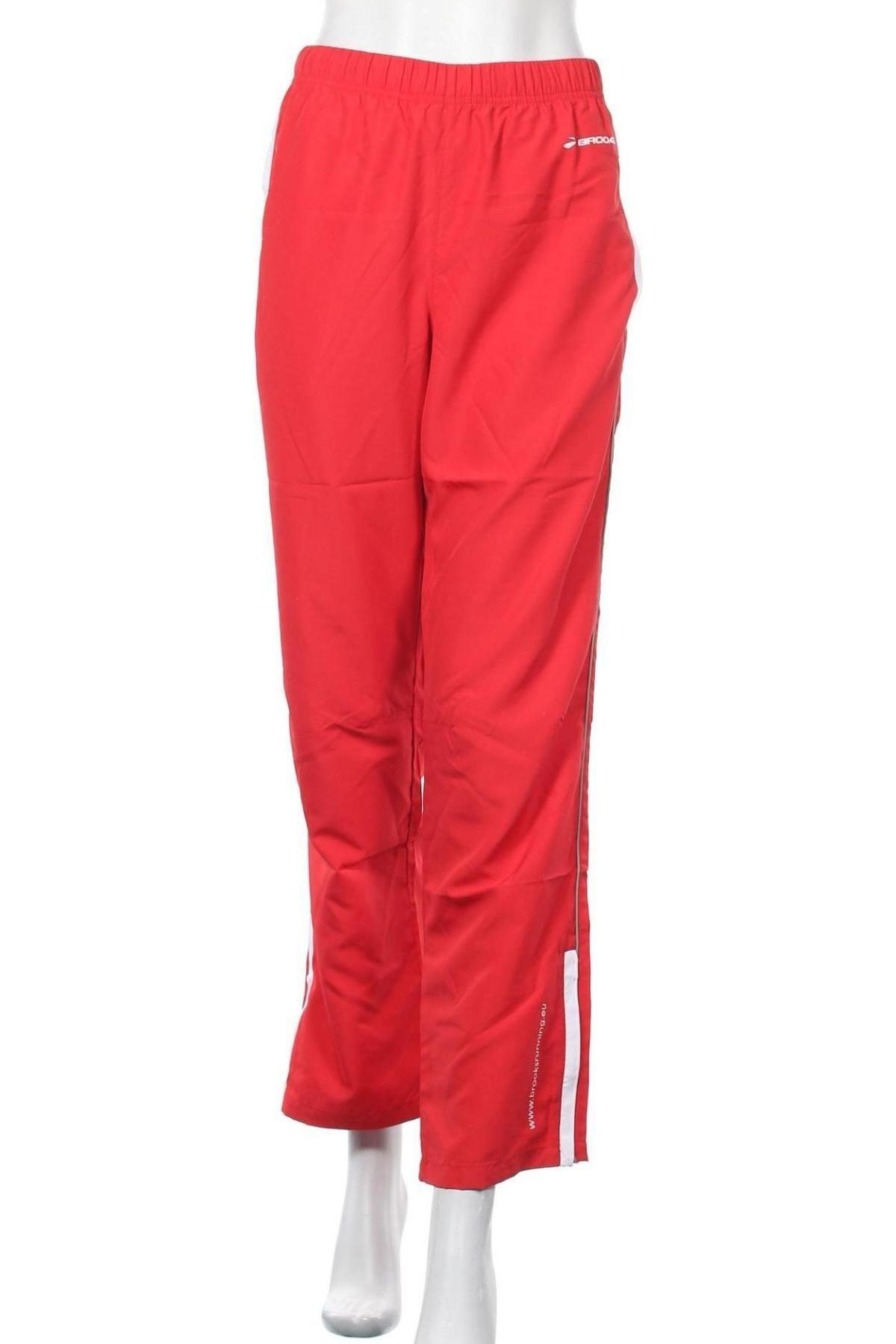 Γυναικείο αθλητικό παντελόνι Brooks, Μέγεθος XS, Χρώμα Κόκκινο, Πολυεστέρας, Τιμή 19,63€