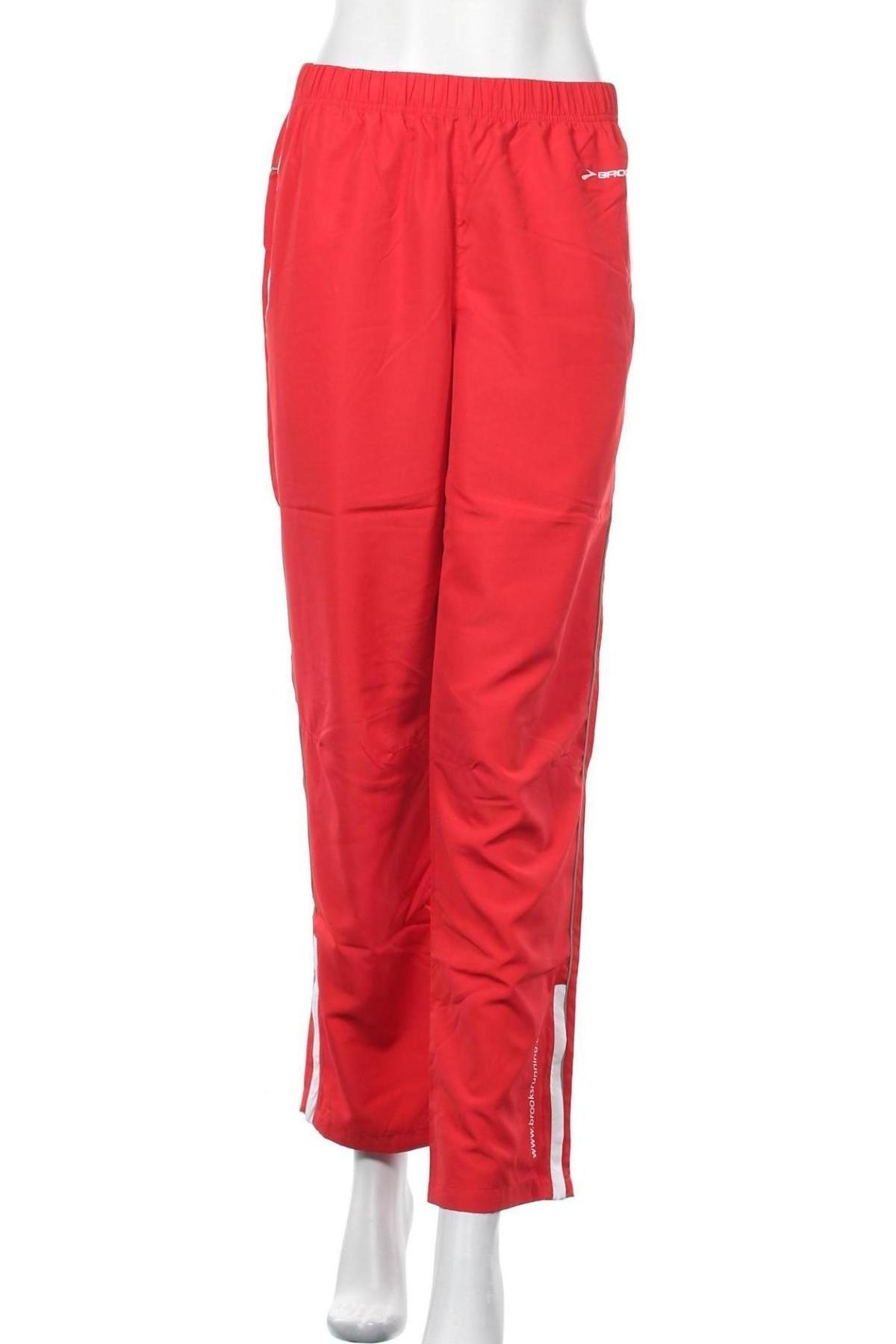 Γυναικείο αθλητικό παντελόνι Brooks, Μέγεθος S, Χρώμα Κόκκινο, Πολυεστέρας, Τιμή 19,63€