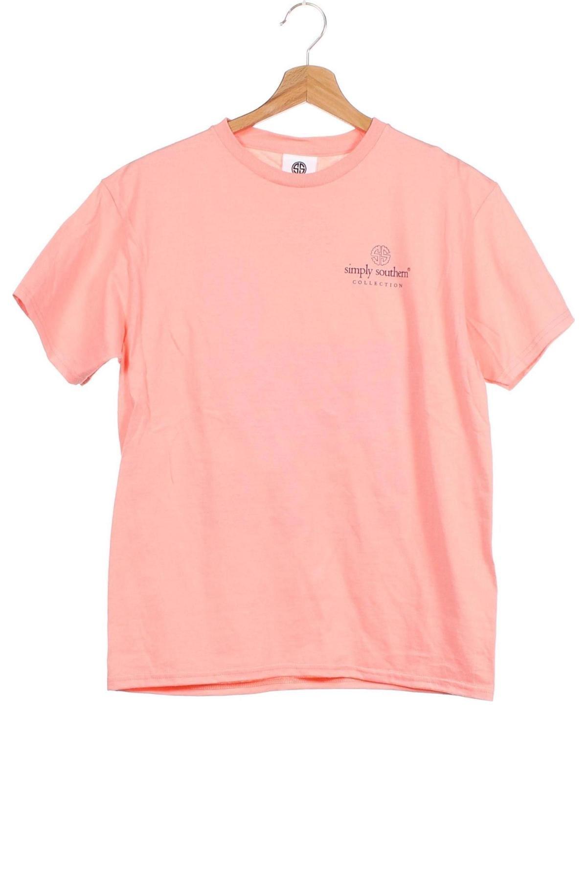 Детска тениска Simply Southern, Размер 13-14y/ 164-168 см, Цвят Розов, Памук, Цена 19,50лв.