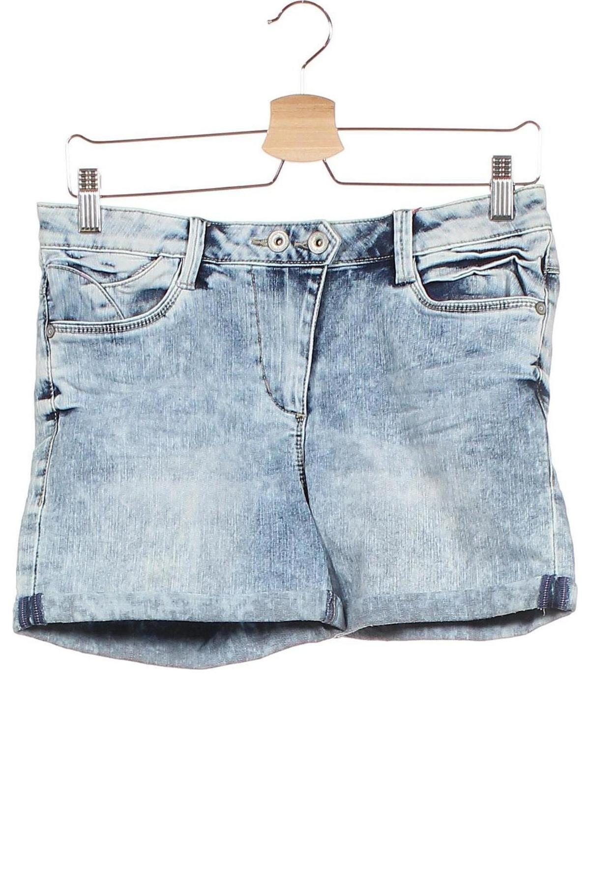 Παιδικό κοντό παντελόνι S.Oliver, Μέγεθος 14-15y/ 168-170 εκ., Χρώμα Μπλέ, 66% βαμβάκι, 29% πολυεστέρας, 3% βισκόζη, 2% ελαστάνη, Τιμή 16,88€