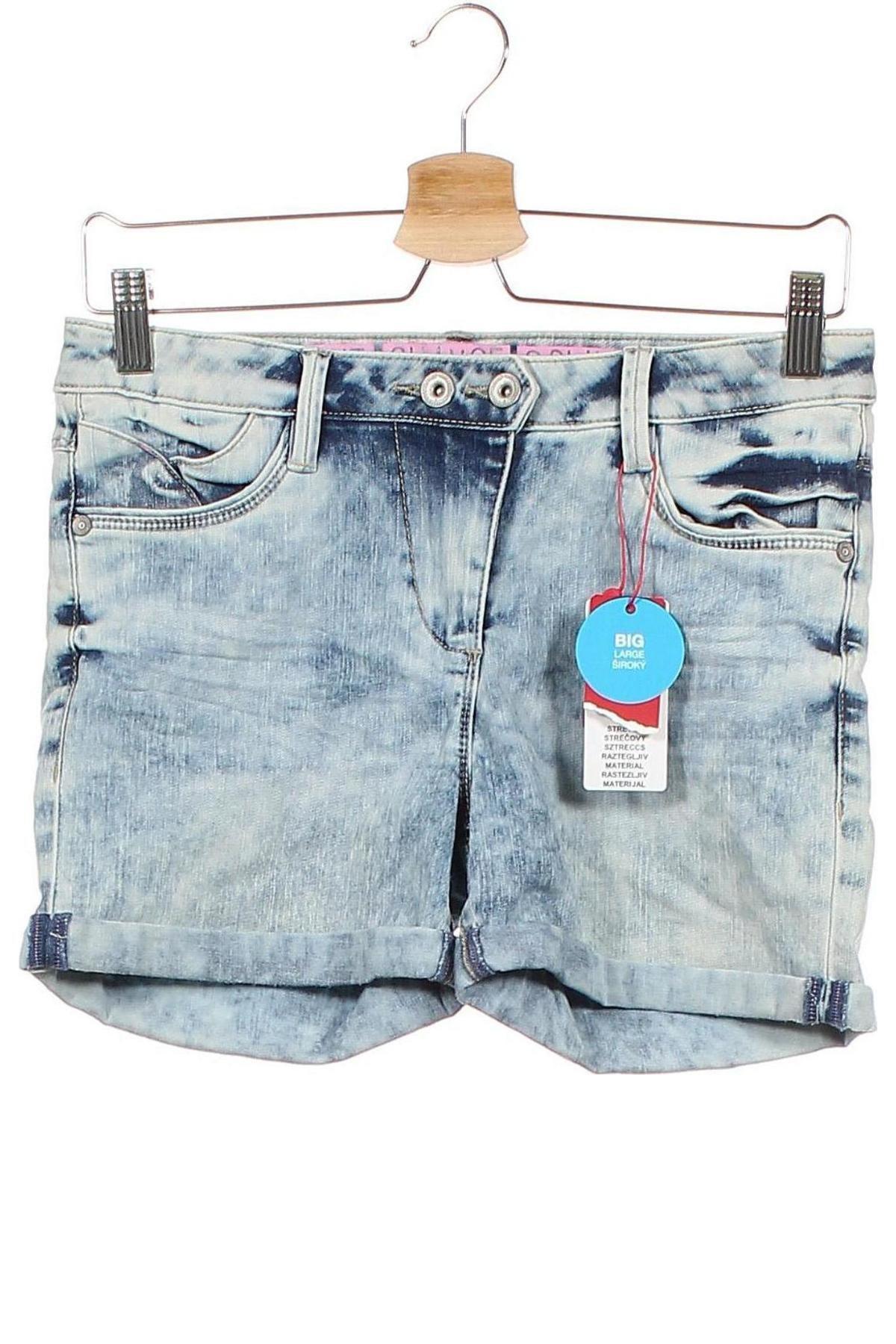 Παιδικό κοντό παντελόνι S.Oliver, Μέγεθος 11-12y/ 152-158 εκ., Χρώμα Μπλέ, 66% βαμβάκι, 29% πολυεστέρας, 3% βισκόζη, 2% ελαστάνη, Τιμή 16,88€