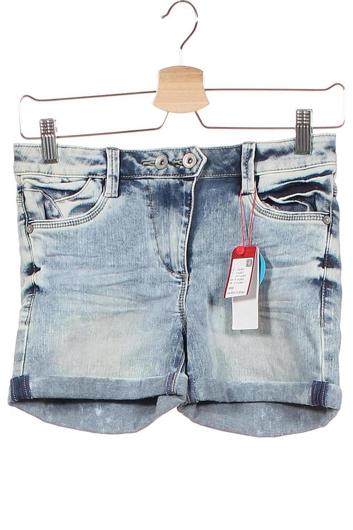 Παιδικό κοντό παντελόνι S.Oliver, Μέγεθος 9-10y/ 140-146 εκ., Χρώμα Μπλέ, 66% βαμβάκι, 29% πολυεστέρας, 3% βισκόζη, 2% ελαστάνη, Τιμή 16,88€