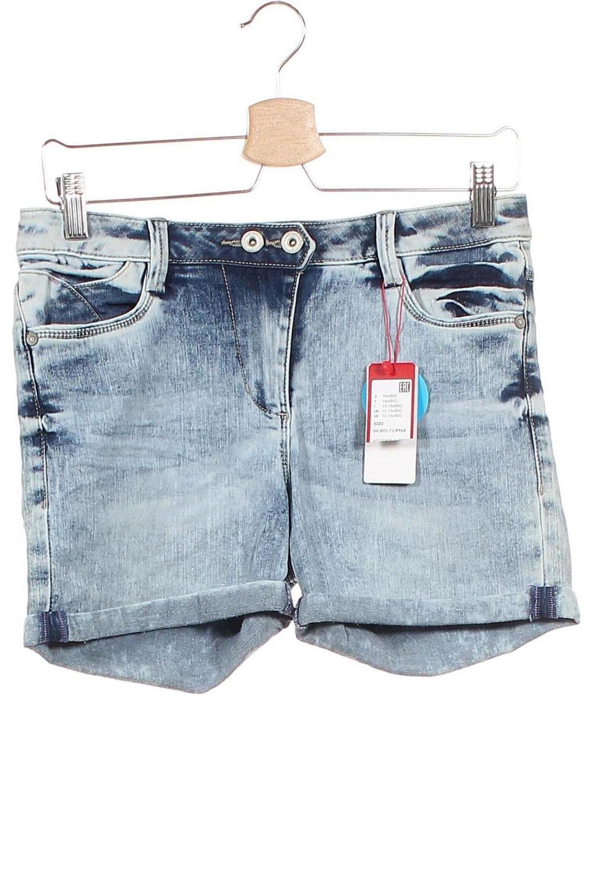 Παιδικό κοντό παντελόνι S.Oliver, Μέγεθος 12-13y/ 158-164 εκ., Χρώμα Μπλέ, 66% βαμβάκι, 29% πολυεστέρας, 3% βισκόζη, 2% ελαστάνη, Τιμή 16,88€