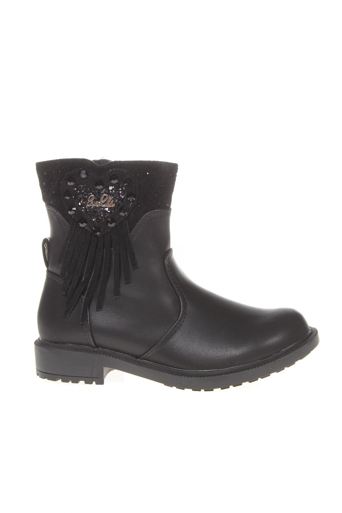 Детски обувки Lulu, Размер 29, Цвят Черен, Еко кожа, Цена 33,82лв.