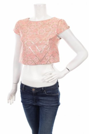 Γυναικεία μπλούζα Miss Selfridge, Μέγεθος M, Χρώμα Ρόζ , 70% πολυεστέρας, 30% μεταλλικά νήματα, Τιμή 6,31€