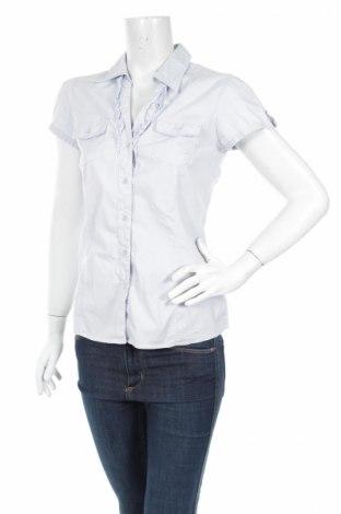 Дамска риза Flame, Размер M, Цвят Син, 97% памук, 3% еластан, Цена 6,75лв.