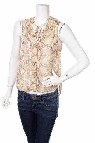 Γυναικείο πουκάμισο H&M, Μέγεθος S, Χρώμα  Μπέζ, Πολυεστέρας, Τιμή 2,86€