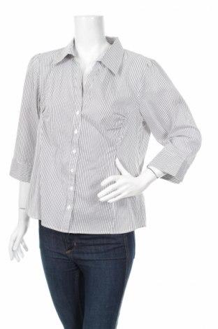 Γυναικείο πουκάμισο H&M, Μέγεθος L, Χρώμα Μπλέ, 47% βαμβάκι, 26% πολυεστέρας, 23% πολυαμίδη, 4% ελαστάνη, Τιμή 19,59€