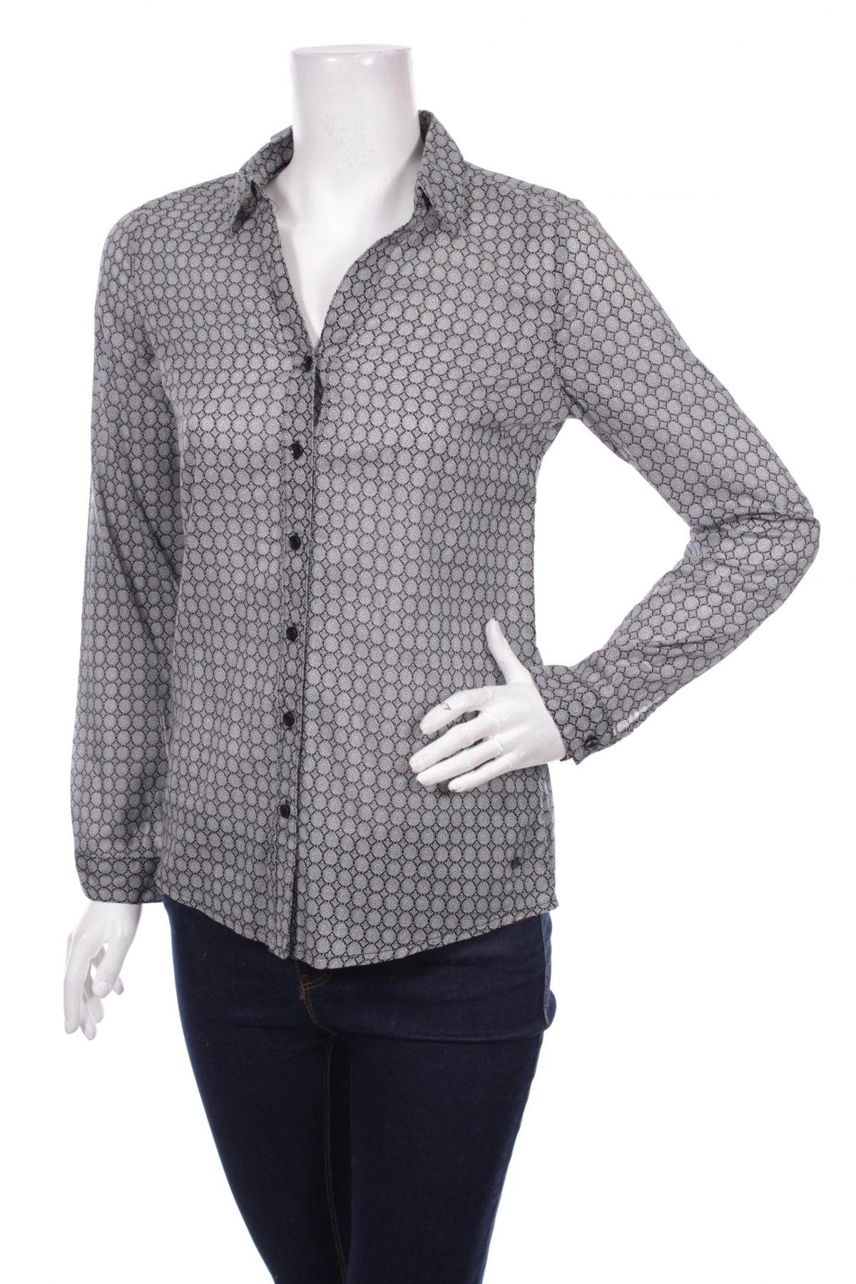 Γυναικείο πουκάμισο Zero, Μέγεθος XS, Χρώμα Μαύρο, Βαμβάκι, Τιμή 26,29€