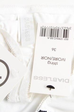 Бикини Diab'less, Размер S, Цвят Бял, 92% полиамид, 8% еластан, Цена 15,60лв.