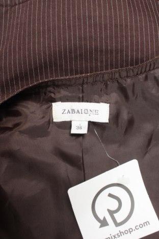 Дамски елек Zabaione, Размер S, Цвят Кафяв, 98% памук, 2% полиестер, Цена 23,80лв.