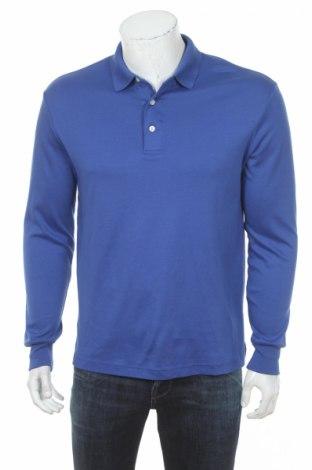 Мъжка блуза Land's End, Размер M, Цвят Син, 100% памук, Цена 6,00лв.