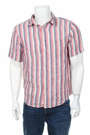 Мъжка риза Marks & Spencer, Размер S, Цвят Многоцветен, 100% лен, Цена 4,60лв.