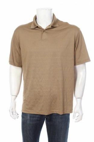 Мъжка тениска Marc Edwards, Размер L, Цвят Бежов, 100% полиестер, Цена 3,40лв.